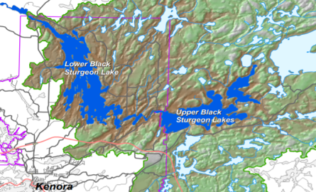 topographical map of lakes