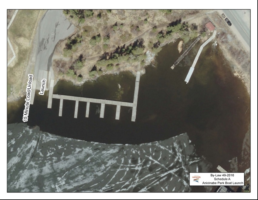 aerial view of boat launch
