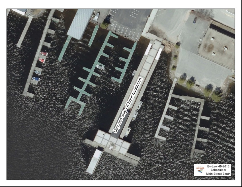 aerial view of docking